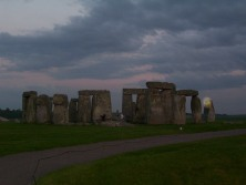 The Lady is there. Stonehenge 2006